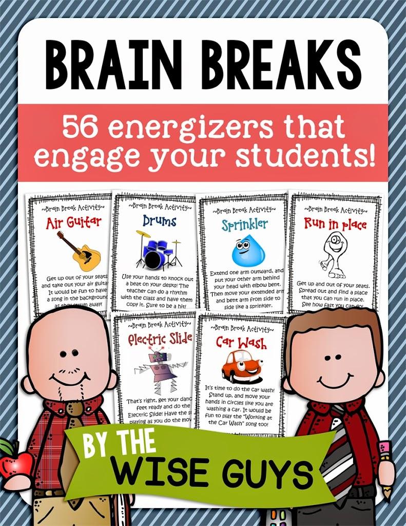 Classroom Break Ideas ~ Brain breaks in the elementary classroom wise guys