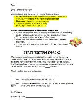FREE SBAC, PARCC Letter to Parents