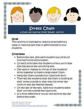 FREE SBAC, PARCC Stress Breaker Activity