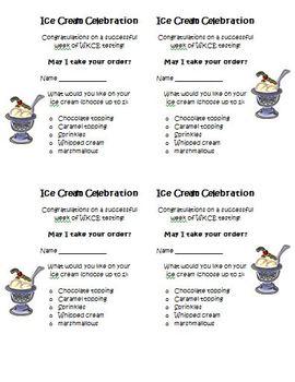FREE SBAC, PARCC Ice Cream Party Activity